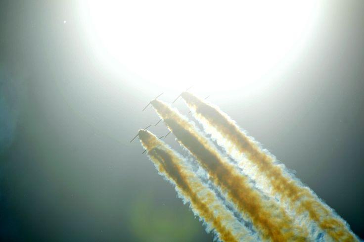 Patrulla aguila in sun spain pilots in slovakia airshow wallpaper