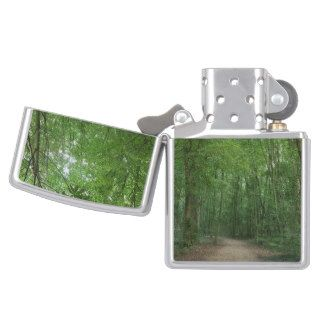 Path in Forest Green Nature Photography Trees Zippo Lighter