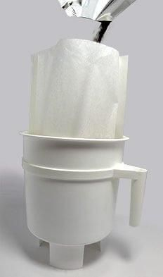 These filter bags have been designed to aid in the clean-up of your domestic Toddy brewing process. The filters can be used in addition to use of the felt filter, helping to prevent clogging. They also increase the yield of coffee concentrate from each batch. And best of all, clean up is a cinch because each filter can be tossed out after using.  Not intended for commercial model use, Toddy not included as pictured.