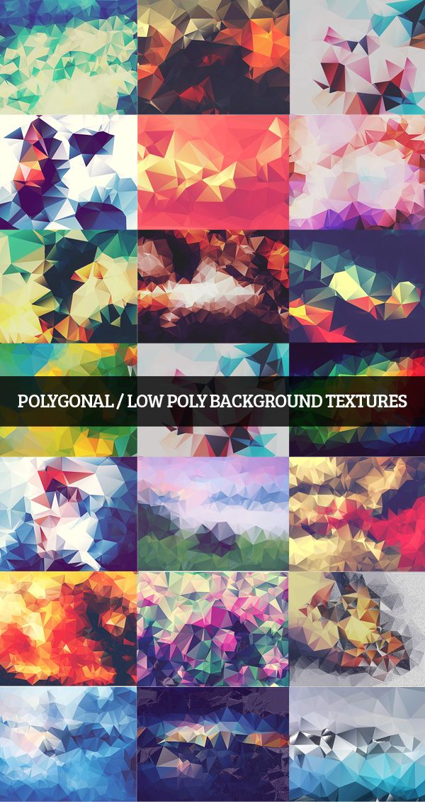 Polygonal / Low Poly Background Textures #lowpolybackgrounds #geometircbackgrounds #polygonalbackgrounds