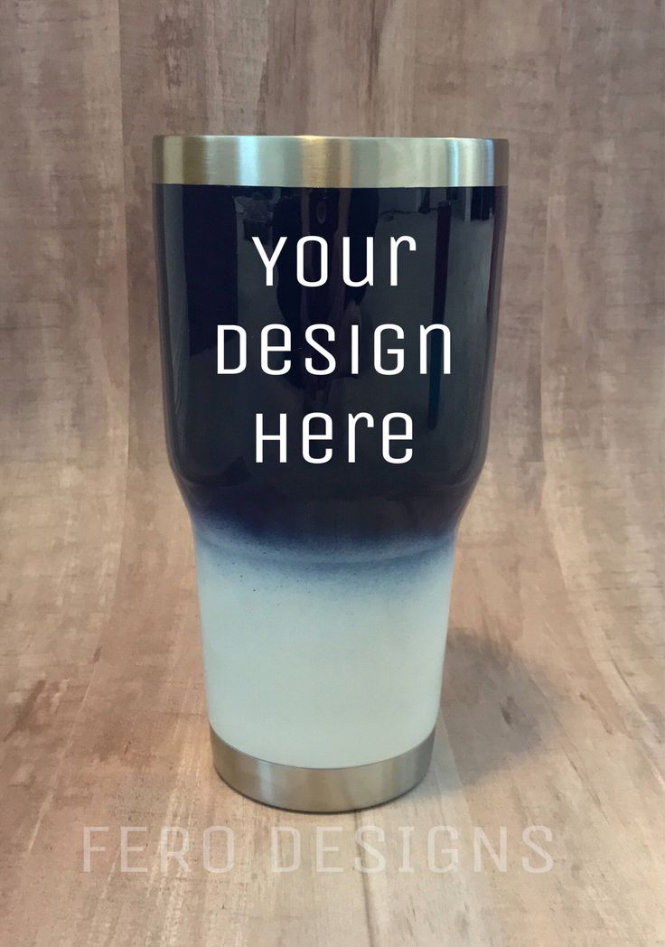 A personal favorite from my Etsy shop https://www.etsy.com/listing/540061353/custom-ombre-cup-custom-travel-mug-yeti