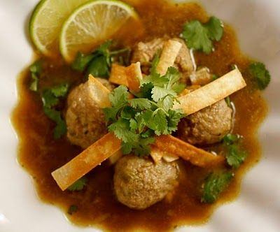 Albóndigas Soup with Hatch Chiles • Taste With The Eyes • where the image is meant to titillate and inspire the cook