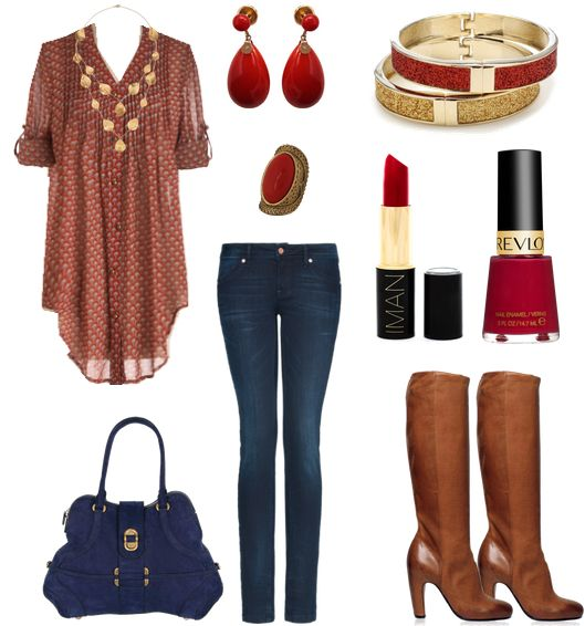 Maroon + Gold...: Babydoll Shirts, Red, Clothing Style, Beauty Fashion Style, Gold Fashion, Outfit, Adorable Hair, Jeans And Boots, Clothes Or Fashion