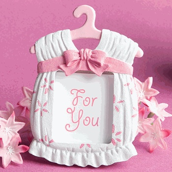 Cute Baby Girl Themed Picture Frame Favor!