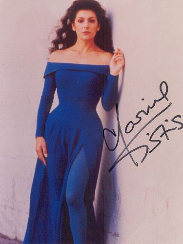 Deanna Troi Star Trek Blue Boatneck Dress