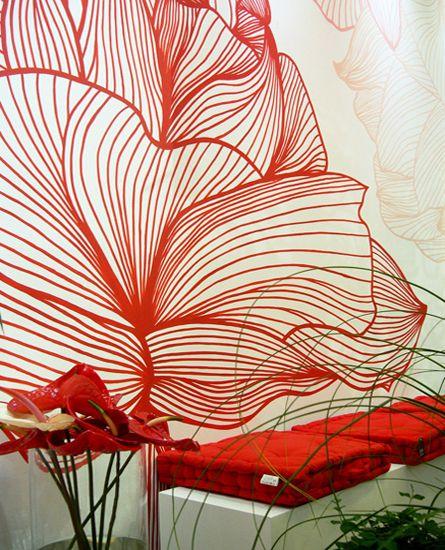 Έντονα contrast και φωτεινά χρώματα στη ζωγραφική τοίχου αανθοπωλείου. Δείτε περισσότερα έργα μας στο  http://www.artease.gr/interior-design/emporikoi-xoroi/