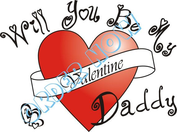 Valentine daddy iron on DIY printable pdf by Aluminumguy on Etsy, $5.00