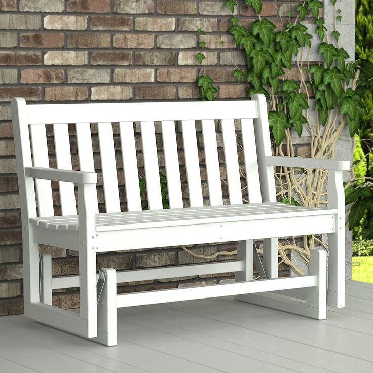Poly-Wood™ Traditional Glider is perfect for gently gliding with a loved one. Made from recycled plastic lumber you will never have to sand, paint or refinish to keep your outdoor glider looking like new.