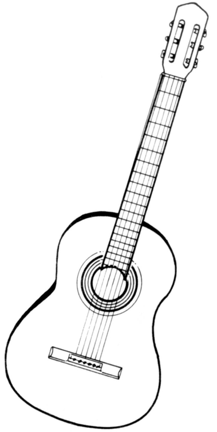 Dessin Guitare Simple