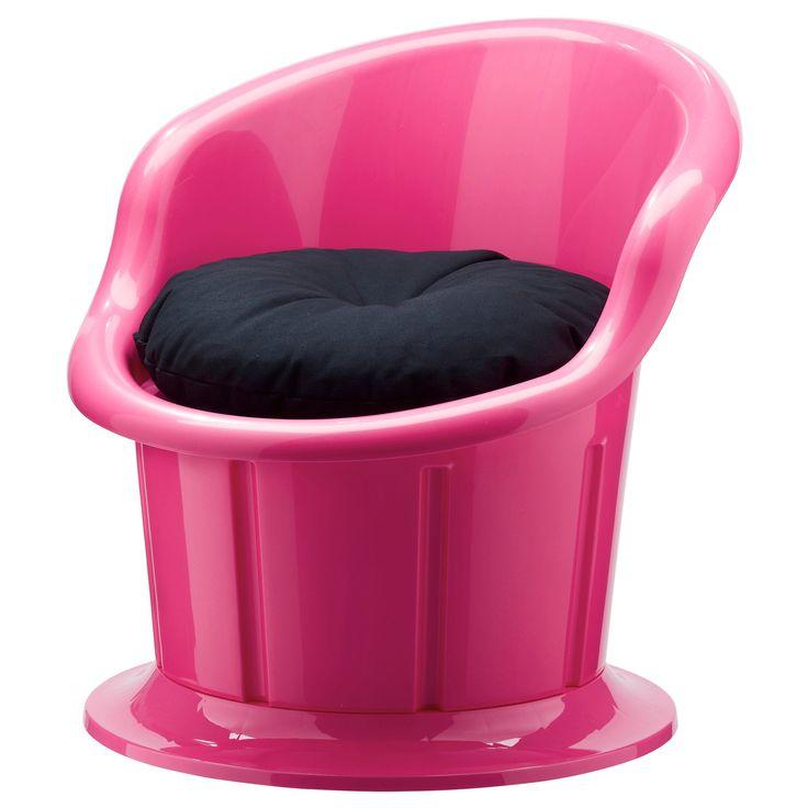 POPPTORP tekli koltuk pembe-siyah   IKEA Oturma Odaları
