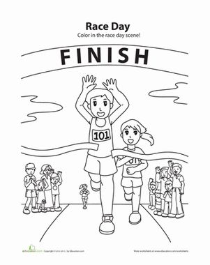 running coloring page girl scout daisies pinterest coloring pages sports day colouring. Black Bedroom Furniture Sets. Home Design Ideas
