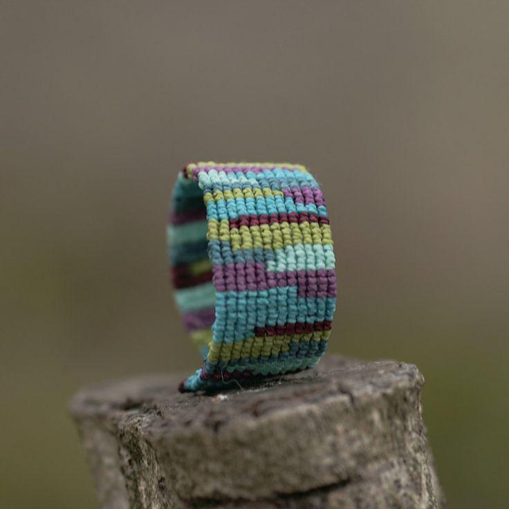 Aqua Bracelet Macrame Jewelry Wristbands by MacrameBrazilian