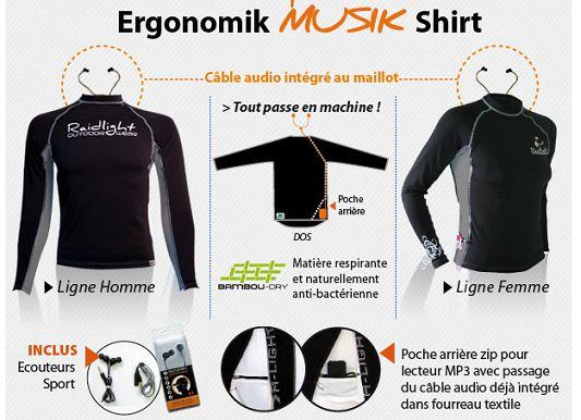 Le tee-shirt Ergonomik Musik de Raidlight