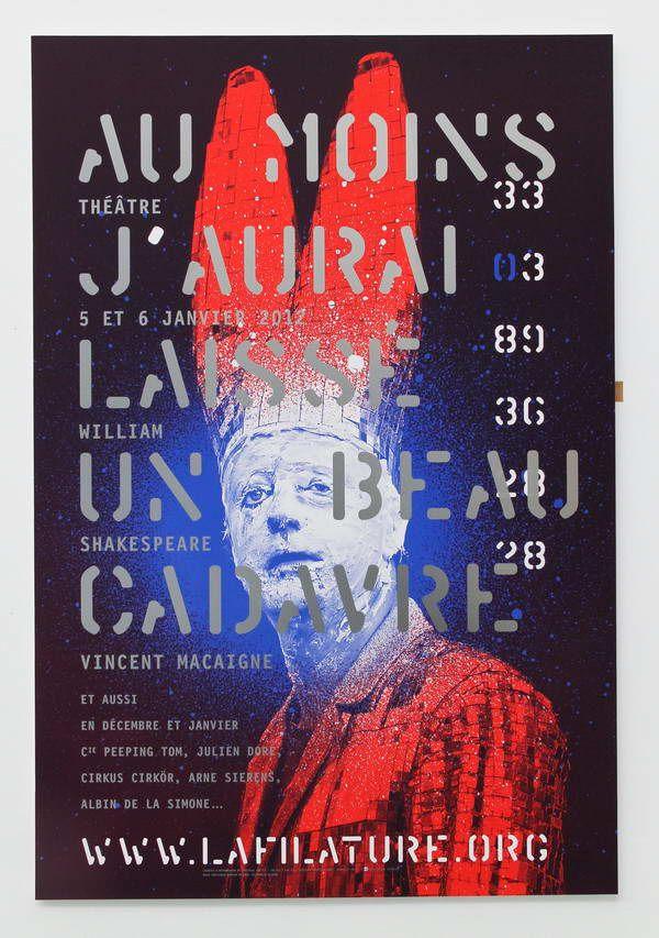 Annette Lenz et Vincent Perrottet – Affiche Au moins j'aurai laissé un beau cadavre, pour la Filature à Mulhouse (2009)
