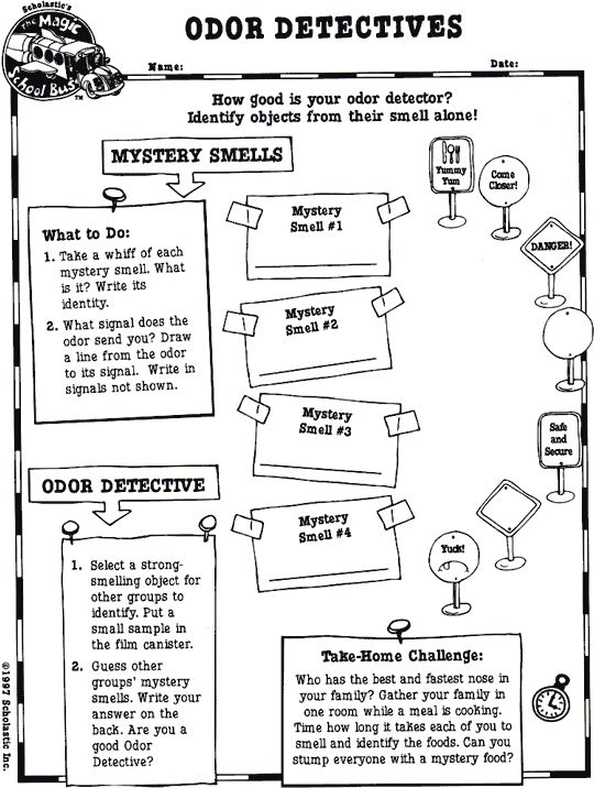 Odor Detectives worksheet