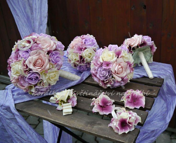 Svatební set růže a hortenzie