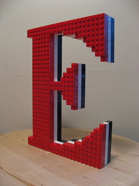 Lego letters! So cool and I would have so much fun building it!