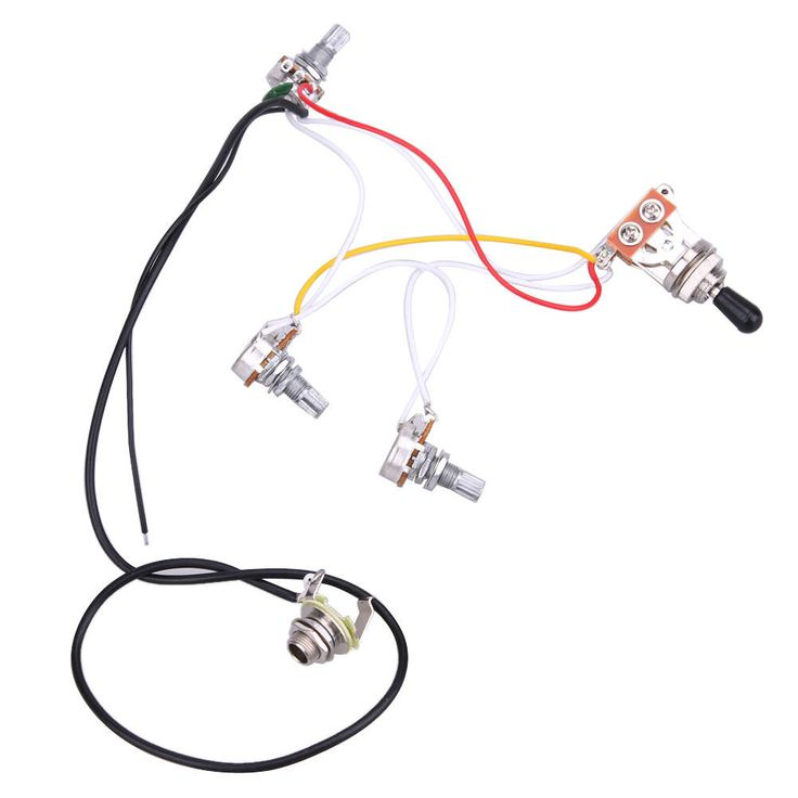 Guitar Wiring Harness Prewired 2V1T1J 3 Way Switchs for LP