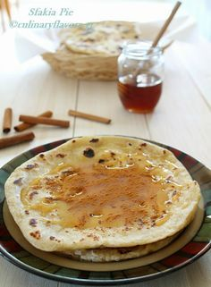 Sfakià Pie (Sfakianì Pita) | Flat bread stuffed with non salty cheese and drizzled with honey | culinaryflavors.gr | #crete #cretandiet #pita #pie #mizithra #cheese #sweet #dessert