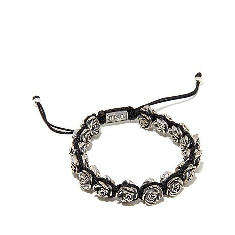 Shop King Baby Jewelry Macrame Silvertone Roses Bracelet, read customer reviews and more at HSN.com.