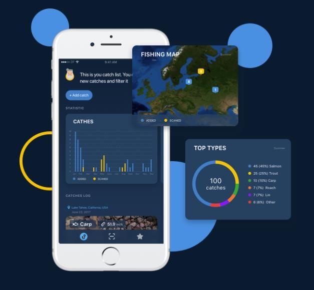 Inteligencia artificial en una app para pescadores. Se trata de una aplicación para iPhone pensada para los que tienen a la pesca como deporte favorito. Desde la app es posible hacer una foto al pez capturado y esperar a que el sistema de reconocimiento nos diga su especie, clasificándolo y guardándolo dentro de nuestra cuenta personal. #experienciadeconsumo