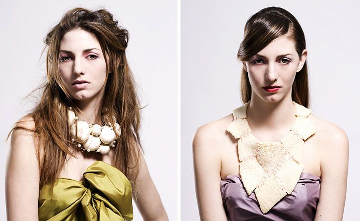 Jewellery Designer Tiffany Rowe - necklaces made of mushrooms and tripe