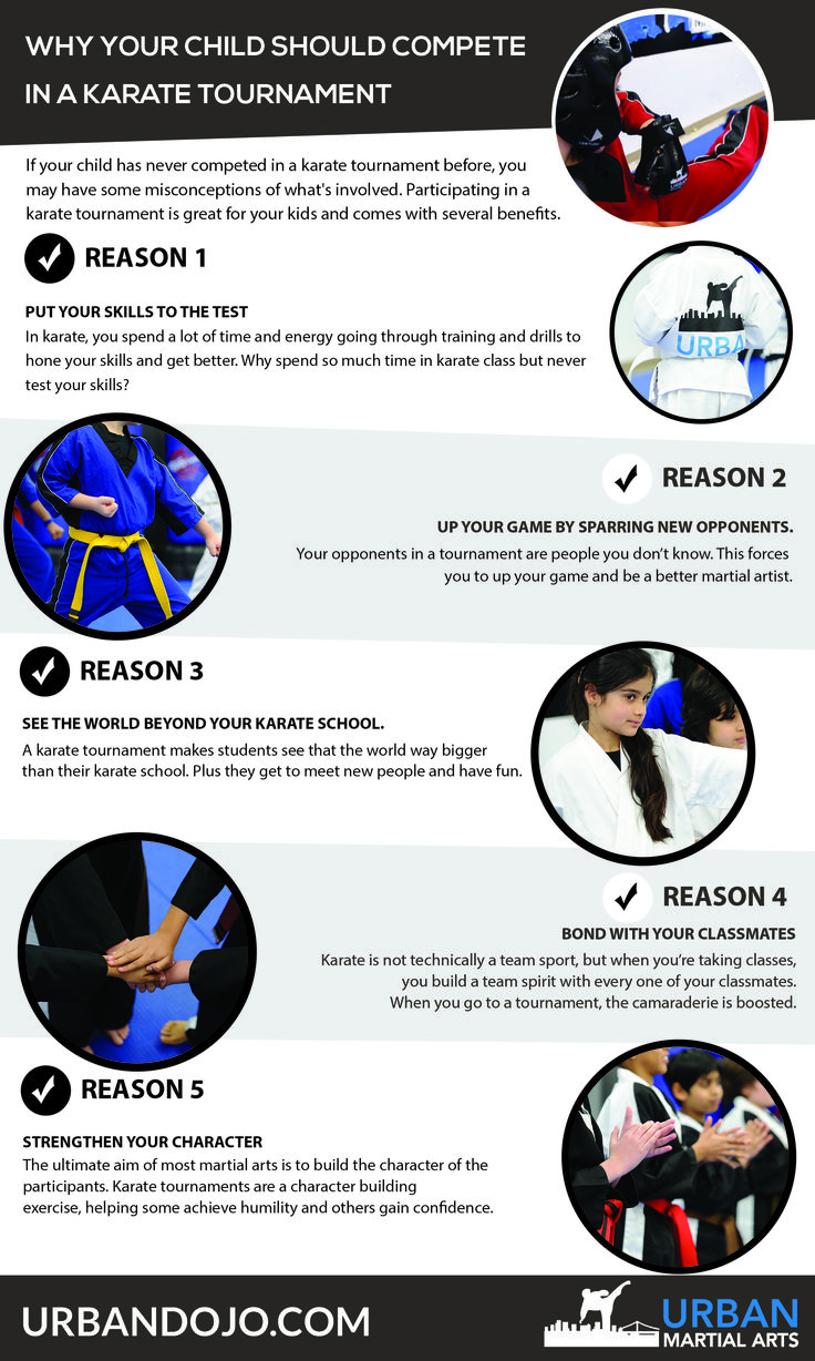 Trying to decide if your child should compete in a karate tournament? Here are five great benefits of competing in a karate tournament. Learn more about karate for kids in Brooklyn: http://urbandojo.com/karate