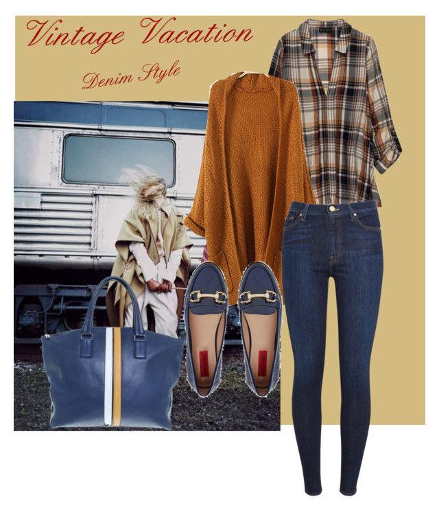 """""""vintage vacation thematic 2"""" by oripandora on Polyvore featuring Bobeau, 7 For All Mankind, London Rebel, Tod's and vintage"""