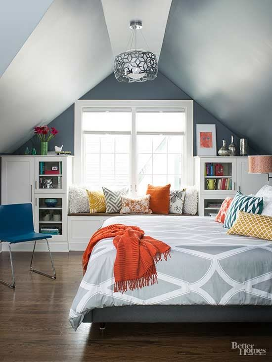 Attics present unique design challenges (i.e. notably slanted ceilings, ventilation obstructions, and awkward layouts), but with careful planning and thoughtful design choices, they offer living space you can claim without adding on. This attic remodel turns unused space into a hardworking retreat packed with storage.