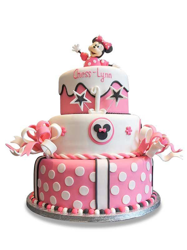 PuurTaart :: Taartengalerij - Verjaardag Minnie Mouse - Birthday cake