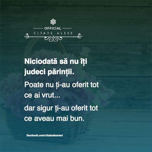 Niciodată să nu îți judeci părinții. Poate nu ți-au oferit tot ce ai vrut... dar…