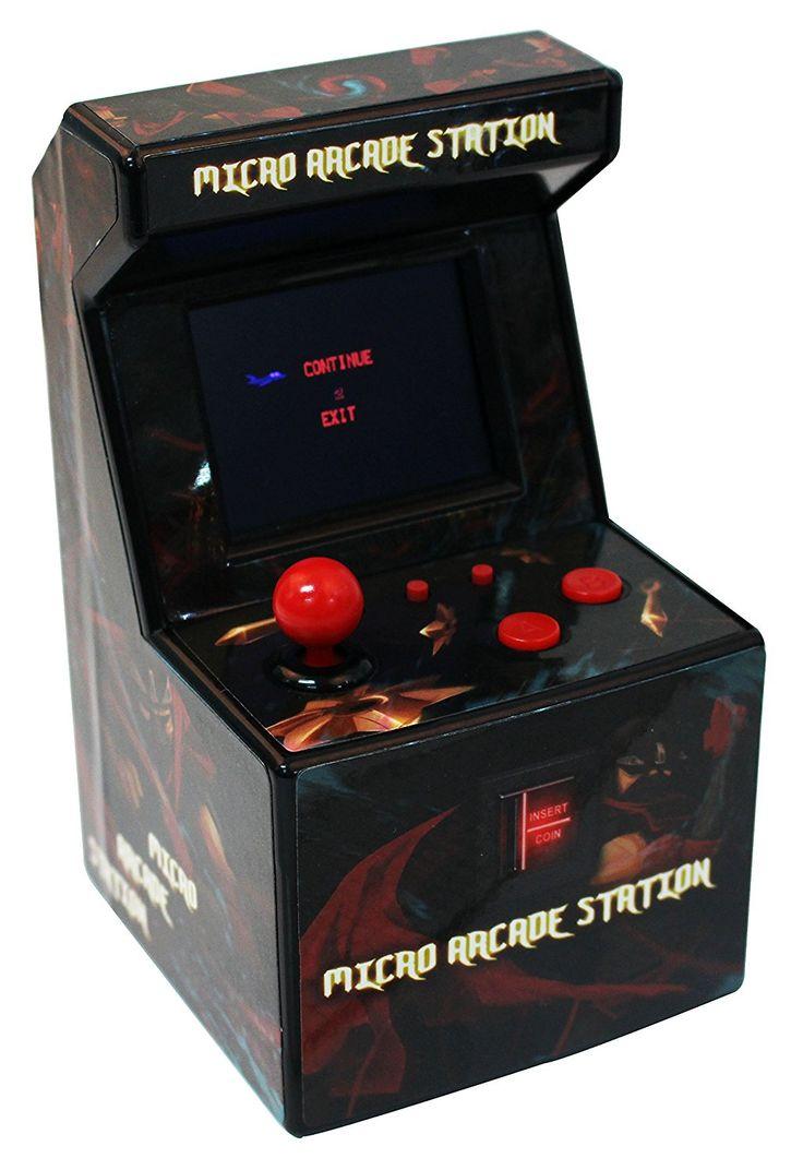 Snappi Mini Arcade Game Machine Toy [217 Video Games] - series II (Indian Red(Indianred)), Retro Games, Retro Spiele, Videospiel, Weihnachten, Weihnachtsgeschenk