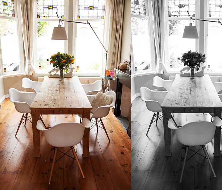 Mesa de madeira da sala de jantar