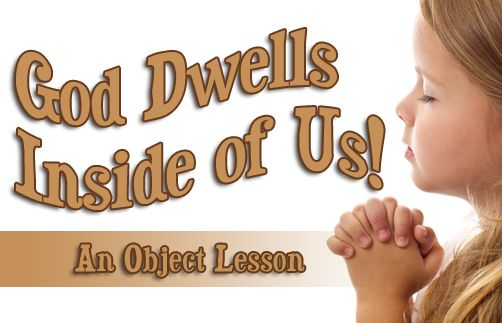 Here is a wonderful Bible object lesson activity you can do with your children, to teach them that God dwells in each and every one of us today.  A small box with a lid is used to help children remember this important message.