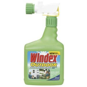 Homemade Windex Outdoor Multi-Surface   Here are two recipes for outdoor window washing.  #1  2 cups rubbing alcohol (70 percent isopropyl)  1/2 cup ammonia  1 teaspoon dish detergent (liquid such as Dawn)  Top off with water until you have 1 gallon of window cleaner  Mix and pour into your bottles.  #2  1/4 cup vinegar  1 teaspoon dish detergent (liquid such as Dawn)  Top off with 1 gallon water. Mix and pour into your bottles.