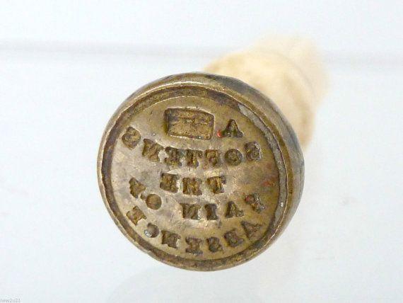 Victorian Intaglio Seal Rebus motto A letter by UKVintageCurios