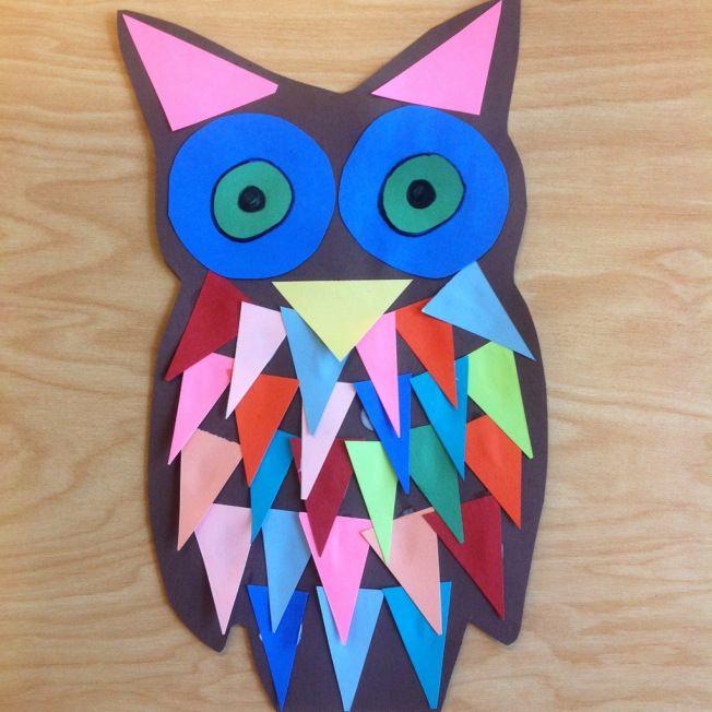 kindergarten shape owls