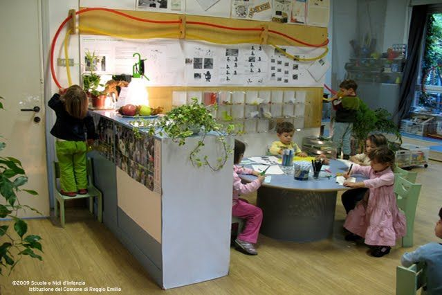Reggio Emilia classroom with speaking tube