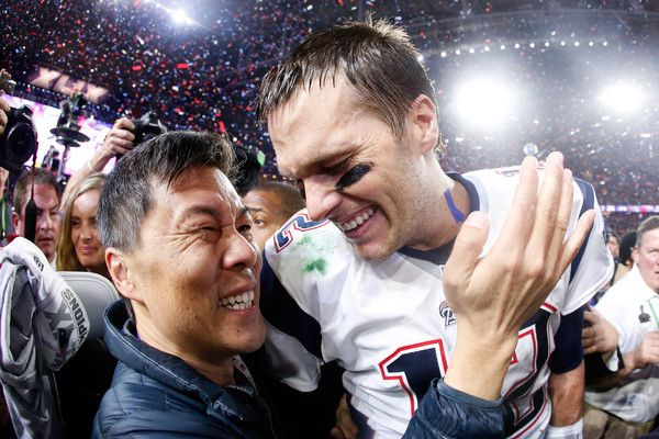 Tom Brady Photos Photos - Tom Brady #12 of the New England Patriots celebrates after defeating the Seattle Seahawks 28-24 in Super Bowl XLIX at University of Phoenix Stadium on February 1, 2015 in Glendale, Arizona. - Super Bowl XLIX - New England Patriots v Seattle Seahawks