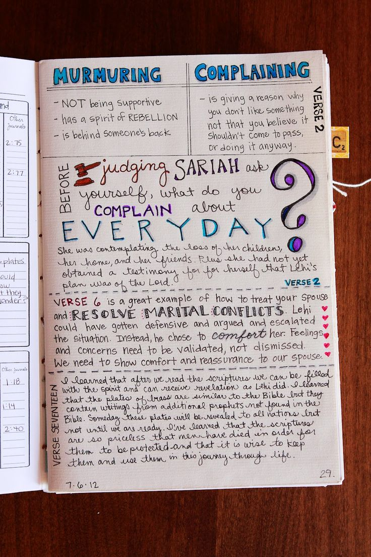 Cool ideas on scripture journaling! This girl is clearly a visual learner