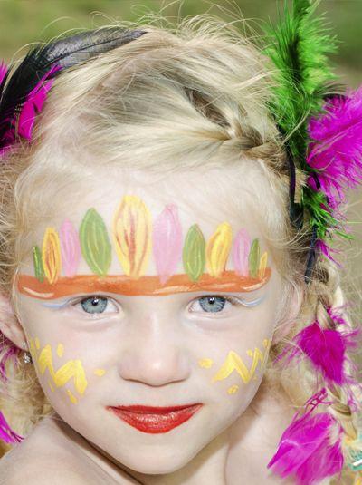 Les enfants feront la file indienne pour venir se faire ce joli maquillage !