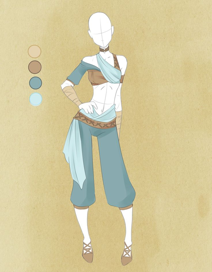 desert dweller outfit (Eleanora clothing  :: Commission Outfit July 04 :: by VioletKy)