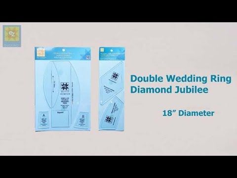 How to use the EZ Quilting Double Wedding Ring Diamond Jubilee template ...