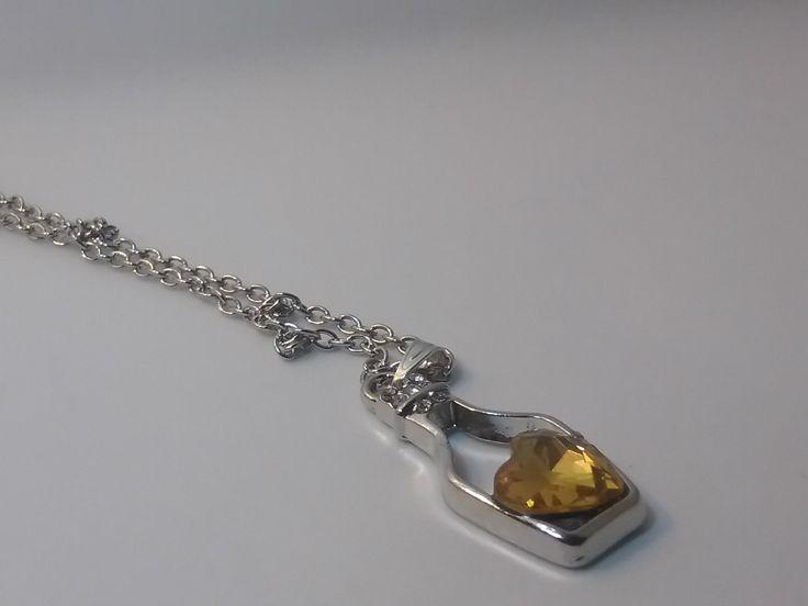 lant cu pandantiv cristal galben- 10 LEI