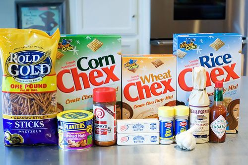 """I know what you're thinking: """"Chex Party Mix? But I can just buy that in bags from the supermarket!"""" But the truth is, my turkeys, you really, really can't. No offense to Chex, but I grew up in the..."""
