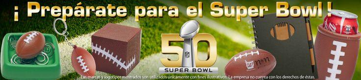 Preparaté con todo para el #SuperBowl50 #stressball #llaveros #portalatas #libretas, etc.