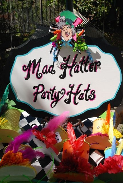 126 best images about alice in wonderland theme on for Mad hatter party props