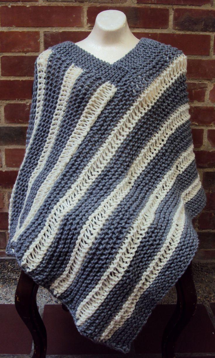 $80.000 COP Ruana en lana tejida en dos agujas