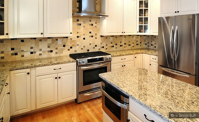 Granite Tile Mosaic Tile Kitchen Countertop
