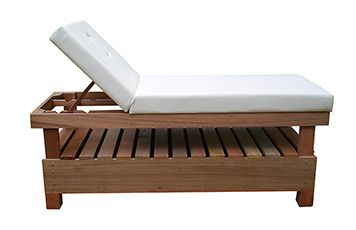 Deluxe slatted Wooden treatment bed.
